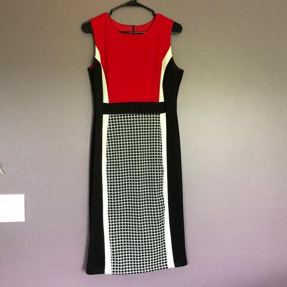 Enfocus Studio Dresses & Skirts - Sleeveless red/black/white dress